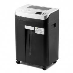 オートフィードシュレッダー(業務用・オートフィード・マイクロカット・2×12mm・自動給紙80枚・手差し細断・10分連続細断・DVD/CD細断) 400-PSD040