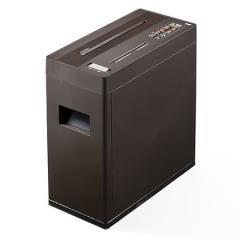 シュレッダー SHD011 ブラウン(電動・A4・クロスカット・5枚細断・CD/DVD/カード対応)