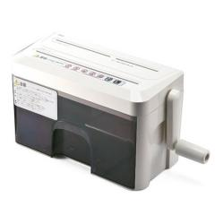 ハンドシュレッダー YK-PSD010(手動・A4・マイクロクロスカット・2枚細断・CD/DVD/カード対応)